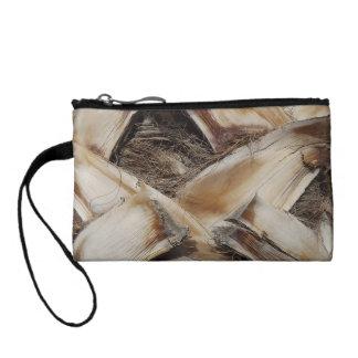 palm tree husk bark change purse