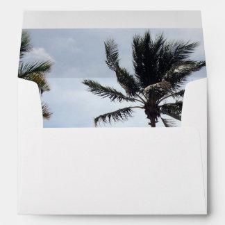 Palm Tree I Envelope for 5x7 Wedding Invitation