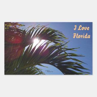 Palm tree I Love Florida Stickers