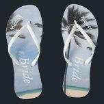 cfbf087df2d31 Palm Tree I Wedding Flip Flops Bride Beach Sandals br  div class