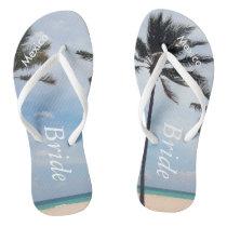 Palm Tree I Wedding Flip Flops Bride Beach Sandals