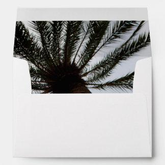 Palm Tree II Envelope for 5x7 Wedding Invitation