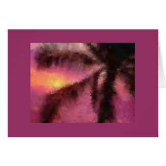 Palm Tree Impressionist Card