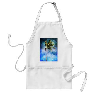 Palm Tree In A Tropical Storm Adult Apron