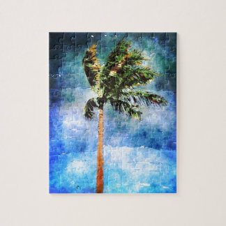 Palm Tree In A Tropical Storm Puzzle
