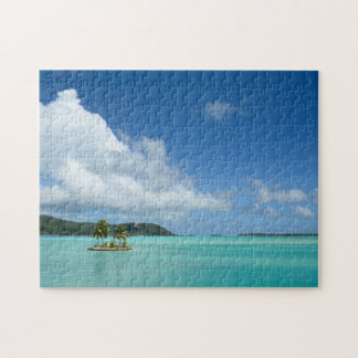 Palm tree in Bora Bora lagoon jigsaw puzzle