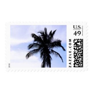 Palm Tree in Cuba Postage Stamp