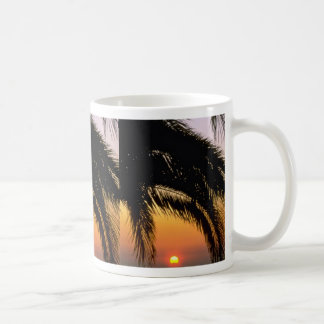 Palm Tree In Late Afternoon Classic White Coffee Mug