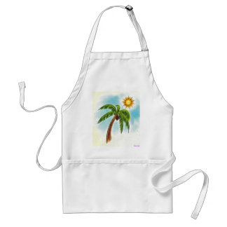 Palm Tree In The Sun Adult Apron