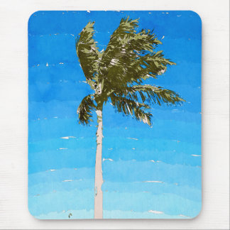 Palm Tree In Wind Mouse Pad