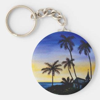 Palm Tree Island Keychains