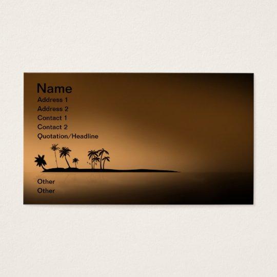 Palm-tree-island-sunset1432 GOLDEN PALM ISLAND SUN Business Card