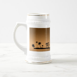 Palm-tree-island-sunset1432 GOLDEN PALM ISLAND SUN Coffee Mug