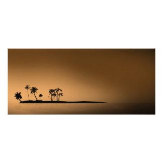 Palm-tree-island-sunset1432 GOLDEN PALM ISLAND SUN Rack Card