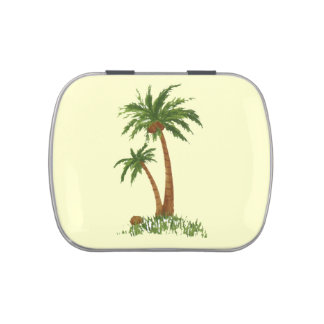 Palm Tree Jelly Belly Candy Tins