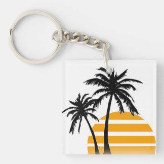 Palm tree key chain