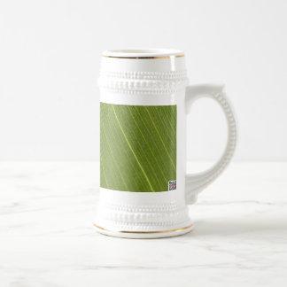 Palm Tree Leaf Beer Stein
