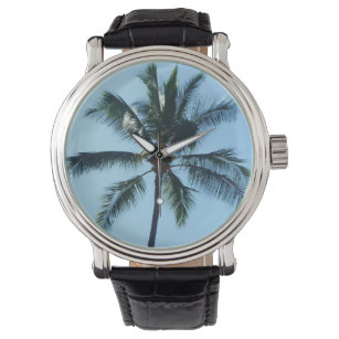 *Palm Tree* Leather Watch