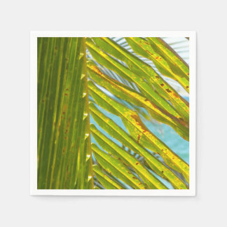 Palm Tree Leaves Ocean View Napkin