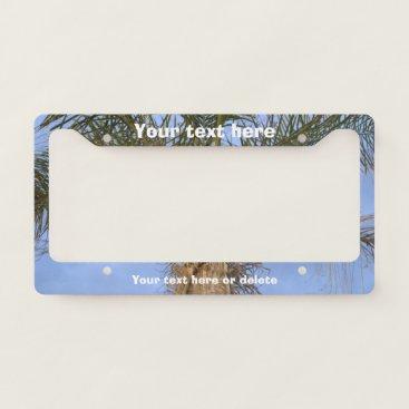 Beach Themed Palm Tree License Plate Frame