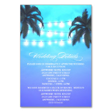 Palm Tree Lights Wedding Reception + Hotel Cards