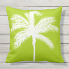 Palm Tree Lime Throw Pillow