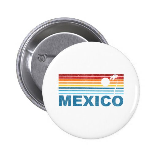 Palm Tree Mexico Buttons
