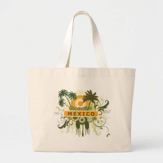 Palm Tree Mexico Large Tote Bag