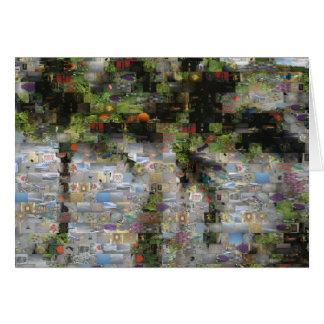 Palm Tree Mosaic Card