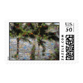 Palm Tree Mosaic Postage Stamp
