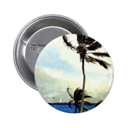 'Palm Tree-Nassau' 2 Inch Round Button