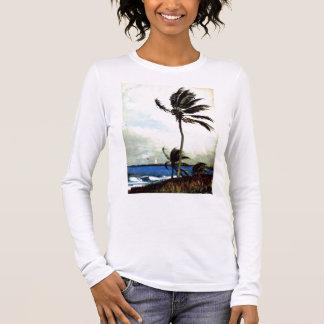 'Palm Tree-Nassau' Long Sleeve T-Shirt