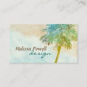 Palm tree business cards zazzle palm tree nature photo art custom double sided business card colourmoves