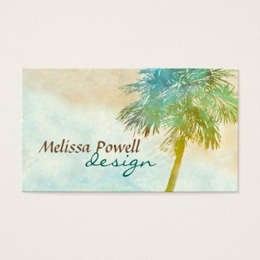Professional Business palm tree nature photo art custom double sided business card
