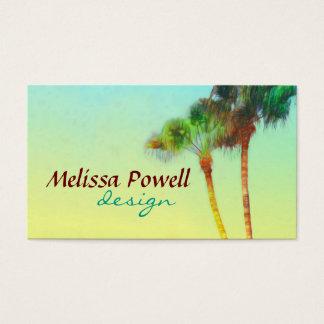 palm tree nature photo art custom double sided business card