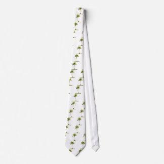 Palm tree neck tie