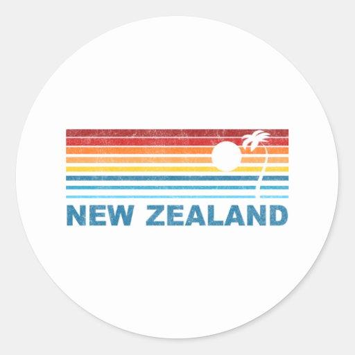 Palm Tree New Zealand Round Sticker