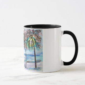 palm tree night mug