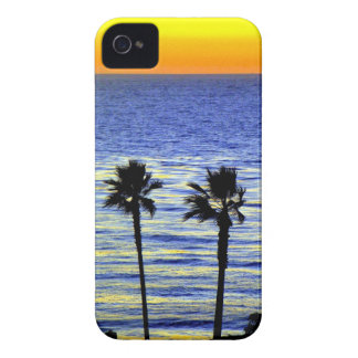 Palm Tree Ocean Sunset iPhone 4 Case-Mate Cases