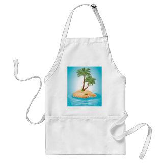 Palm Tree on Island 2 Adult Apron