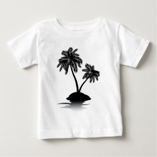 Palm Tree on Island Silhouette 2 Infant T-shirt