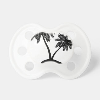 Palm Tree on Island Silhouette 2 Pacifier