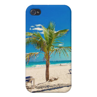 Palm Tree on the Beach iPhone Cover