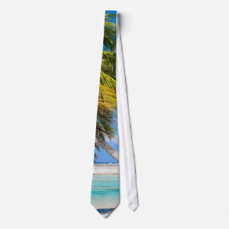 Palm tree on the ocean beach tie