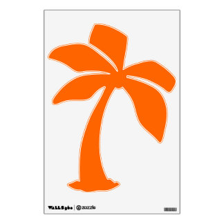 Palm tree orange wall sticker