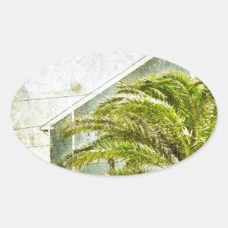 Palm Tree :) Oval Sticker