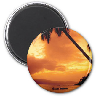 Palm Tree over Water Magnet