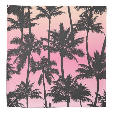 Palm Tree Pattern Duvet Cover