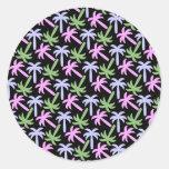palm tree pattern stickers