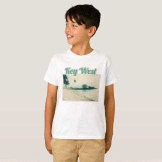 Palm Tree Peninsula at Smathers Beach, Key West FL T-Shirt
